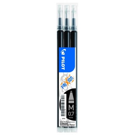 Recharge pour stylo Roller Pilot FriXion ball 0,7mm - Noir