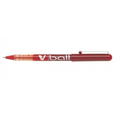 Stylo Roller Pilot V-Ball 0,5mm avec capuchon - Rouge