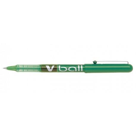 Stylo Roller Pilot V-Ball 0,5mm avec capuchon - Vert