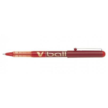 Stylo Roller Pilot V-Ball 0,7mm avec capuchon - Rouge