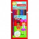 Crayons de couleur Stabilo Color - pochette de 12 assortis