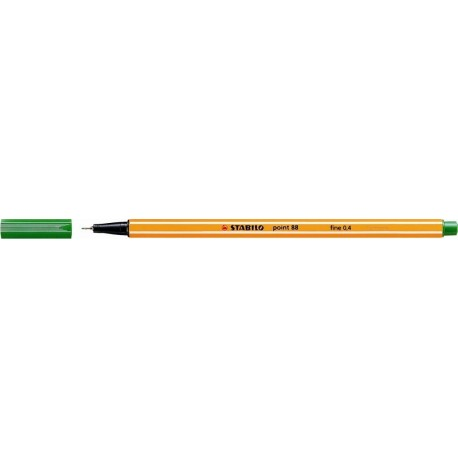 Stylo feutre Stabilo point 88 pointe extra-fine et capuchon - Vert