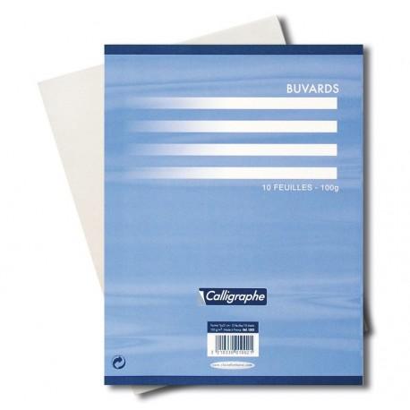 Feuille buvard de 100gr format 16x21cm paquet de 10 une teinte