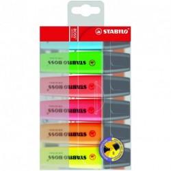Surligneur Stabilo Boss Original  - Pochette de 6 assortis