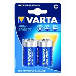 Piles LR14 - C puissance 1,5V - blister de 2 piles Varta