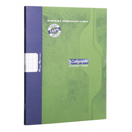 Cahier de Brouillon Calligraphe 17x22 96 pages grands carreaux