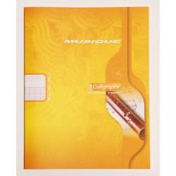 Cahier de musique petit format 17x22 48p séyès/portées Calligraphe