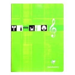 Cahier de musique petit format 17x22 56p séyès/portées Clairefontaine