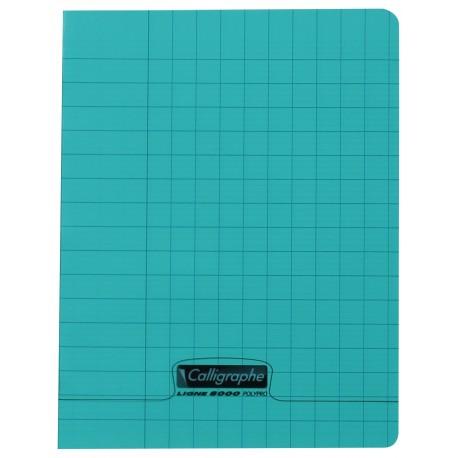 Cahier d'écriture polypro Calligraphe petit format 17x22 32p séyès 3mm
