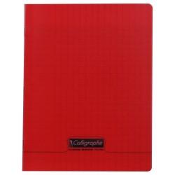 Cahier polypro Calligraphe petit format 17x22 96p grands carreaux (séyès) - rouge