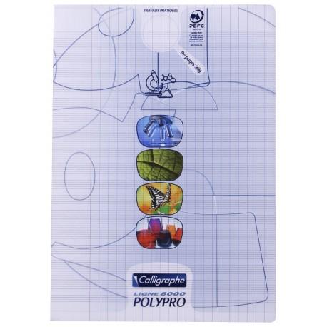Cahier de travaux pratiques polypro Calligraphe A4 21x29,7 64p séyès/uni - incolore