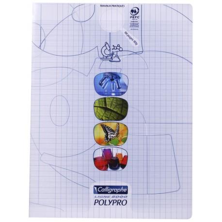 Cahier de travaux pratiques polypro Calligraphe grand format 24x32 96p séyès/uni - incolore