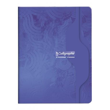 Cahier petit format 17x22 96p grands carreaux (séyès) Calligraphe