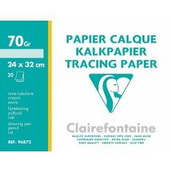 Feuilles de papier calque en feuille grand format 24x32 70-75gr