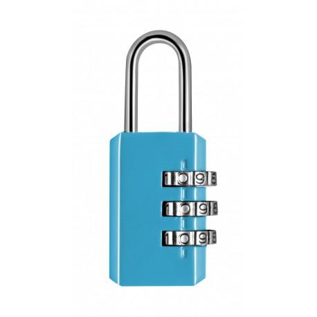 Cadenas métal combinaison 3 chiffres 20mm - Bleu