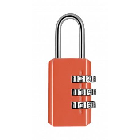 Cadenas métal combinaison 3 chiffres 20mm - Orange
