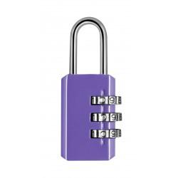 Cadenas métal combinaison 3 chiffres 20mm - Violet