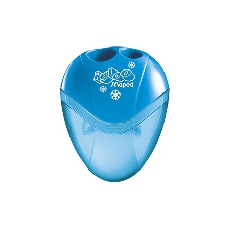 Taille-crayon Maped I-Gloo avec réservoir - 2 usages bleu ou vert