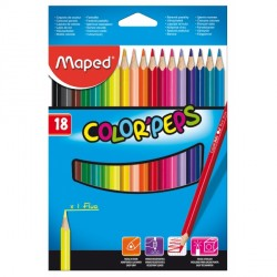 Crayons de couleur Maped Color'Peps - pochette de 18