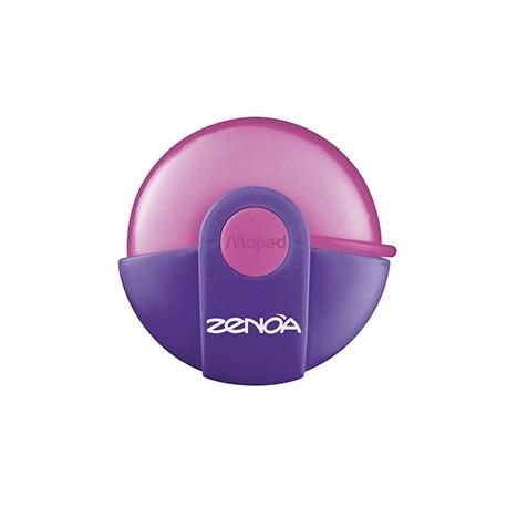 Gomme Maped Zenoa avec protection plastique rotative - Rose