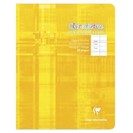 Cahier d'écriture petit format 17x22cm 32p DL 3mm I Clairefontaine