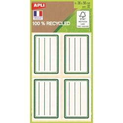 Étiquettes écolier 36x56mm recyclées - sachet de 32