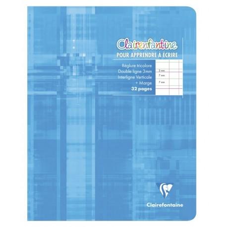 Cahier d'écriture petit format 17x22cm 32p DL 3mm IV Clairefontaine