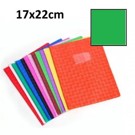 Protège-cahier petit format 17x22 avec porte étiquette - vert