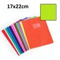 Protège-cahier petit format 17x22 avec porte étiquette - vert clair