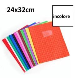 Protège-cahier grand format 24x32 avec porte étiquette - incolore