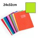 Protège-cahier grand format 24x32 avec porte étiquette - vert clair