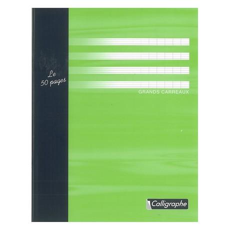 Cahier d'essai petit format 17x22 48p grands carreaux (séyès) Calligraphe