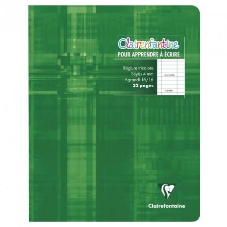 Cahier d'écriture petit format 17x22cm 32p séyès 4mm Clairefontaine