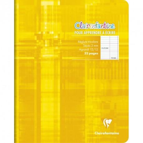 Cahier d'écriture petit format 17x22cm 32p séyès 3mm Clairefontaine