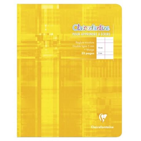 Cahier d'écriture petit format 17x22cm 32p DL 5mm Clairefontaine
