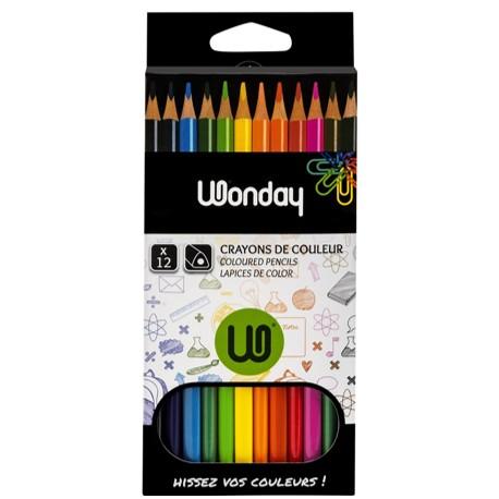 Crayons de couleur 1er prix JPC - pochette de 12 assortis