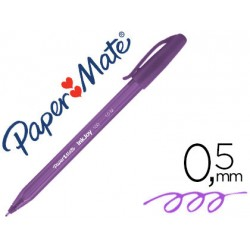 Stylo bille PaperMate Inkjoy 100 pointe moyenne avec capuchon - Violet