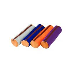 Trousse ronde en tissu - orange