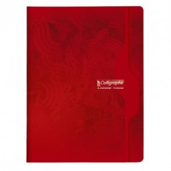 Cahier grand format 24x32 192p petits carreaux (5x5) Calligraphe