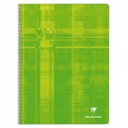 Cahier spirale grand format 24x32 100p grands carreaux (séyès) Clairefontaine