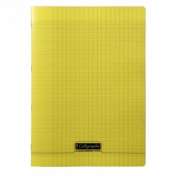 Cahier polypro Calligraphe format A4 21x29,7 48p grands carreaux (séyès) - jaune