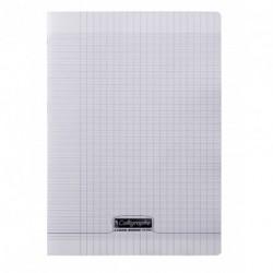 Cahier polypro Calligraphe format A4 21x29,7 48p grands carreaux (séyès) - incolore