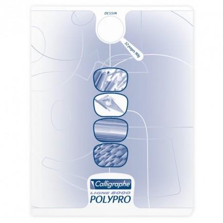 Cahier de dessin couverture plastique Calligraphe 17x22 32 pages 90g