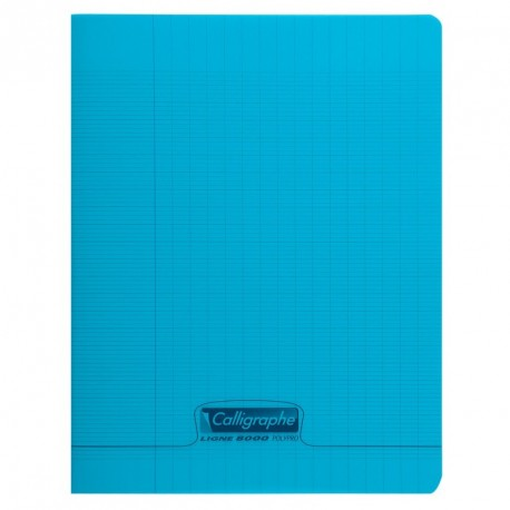 Cahier polypro Calligraphe petit format 17x22 48p grands carreaux (séyès) - bleu
