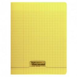 Cahier polypro Calligraphe petit format 17x22 48p grands carreaux (séyès) - jaune