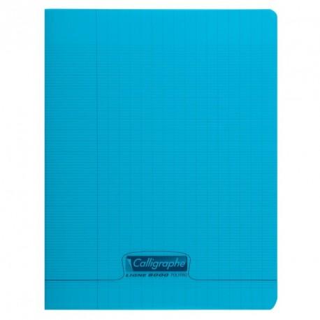 Cahier polypro Calligraphe petit format 17x22 60p grands carreaux (séyès) - bleu
