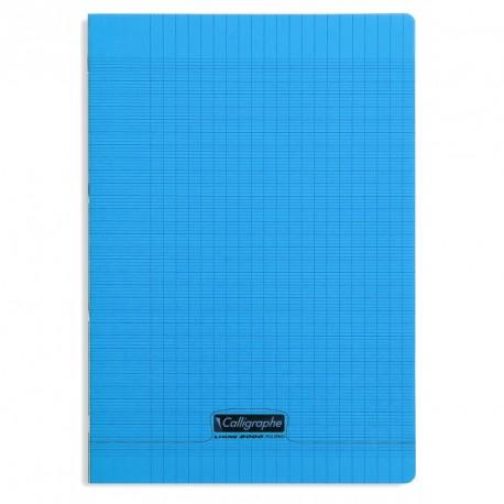 Cahier polypro Calligraphe format A4 21x29,7 96p grands carreaux (séyès) - bleu