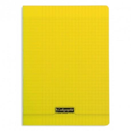 Cahier polypro Calligraphe format A4 21x29,7 96p grands carreaux (séyès) - jaune