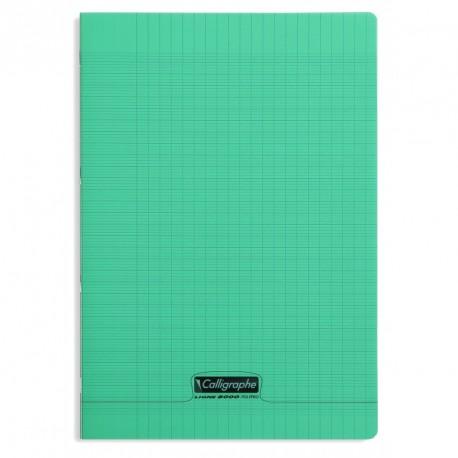 Cahier polypro Calligraphe format A4 21x29,7 96p grands carreaux (séyès) - vert