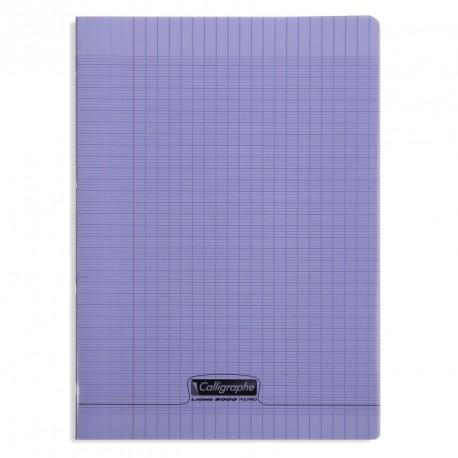 Cahier polypro Calligraphe format A4 21x29,7 96p grands carreaux (séyès) - violet